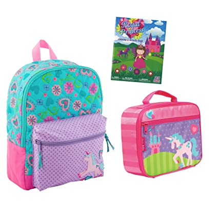 Stephen Joseph Quilted Unicorn Backpack Book