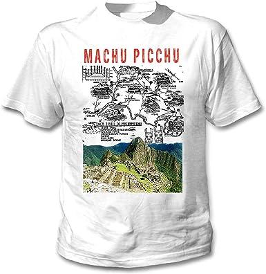 teesquare1st Machu Picchu Peru Camiseta Blanca para Hombre de Algodon: Amazon.es: Ropa y accesorios