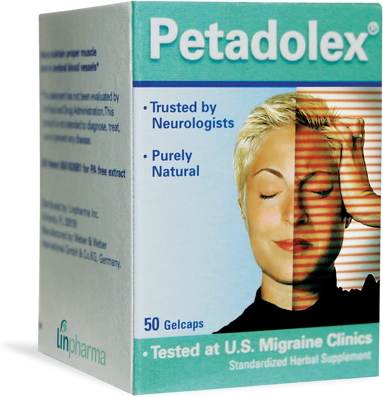 Linpharma Petadolex 50 mg Patented PA-Free Butterbur Root Extract - 1 Bottle: Health & Personal Care