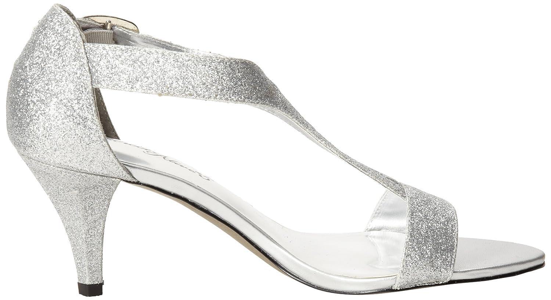 Easy Street Women's Glitz Sandal B00CD9GIR0 8 B(M) US|Silver Glitter