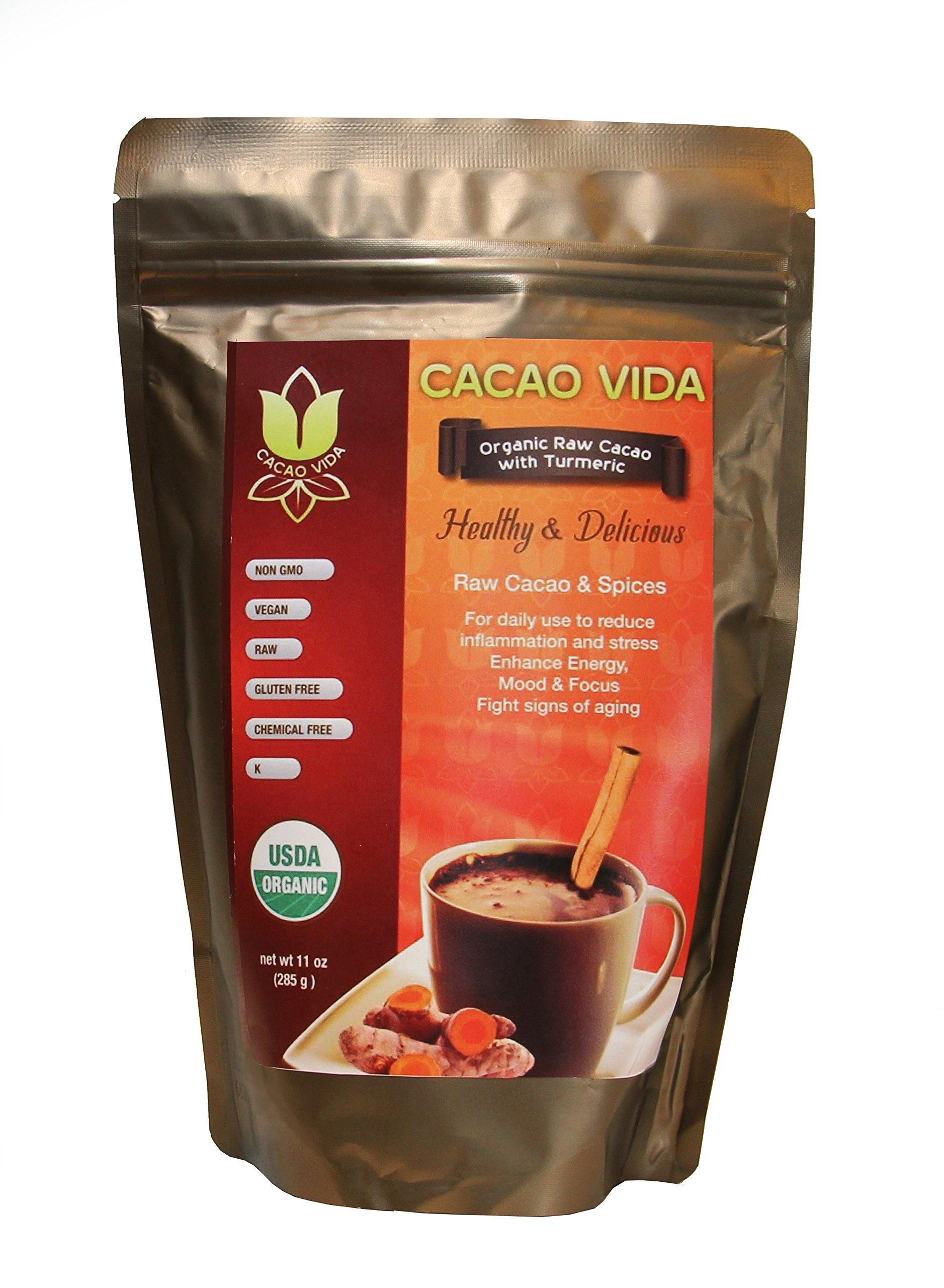 Organic Cacao Powder with Turmeric by Cacao Life Organics