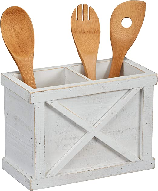 Kitchen Utensil Holder Farmhouse Decor Storage Organizer Caddy for Home Kitchen