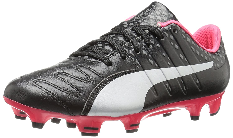 PUMA Men's Evopower Vigor 3 LTH FG Soccer Shoe B01J5QAF5Y 8.5 M US|Puma Black/Puma Silver/Quiet Shade/Bright Plasma