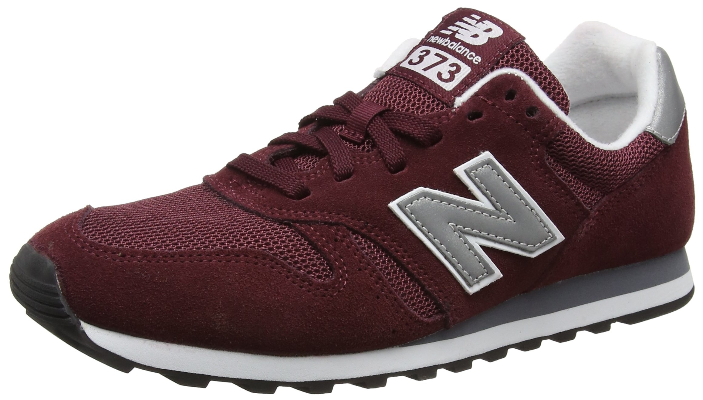New Balance Men's 373 Suede Trainers, Red, 11 US