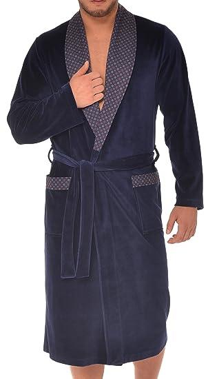 f993fd5bc669d Robe de Chambre pour Hommes RE-101 Velours: Amazon.fr: Cuisine & Maison