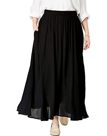 d8d0ec4a7b Woman Within Women's Plus Size Maxi Crinkle Skirt