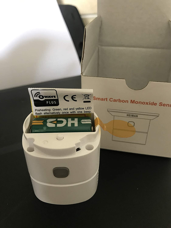 D/étecteur de monoxyde de Carbone HEIMAN Z-Wave Plus 868,42 MHz