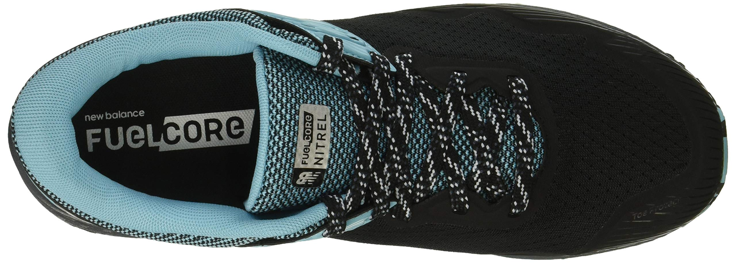 New Balance Women's Nitrel V2 FuelCore Trail Running Shoe, Black/Thunder/Enamel Blue, 6 B US by New Balance (Image #8)