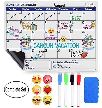 Calendario magnético de borrado en seco para nevera - Calendario ...