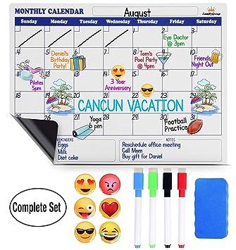 Calendario magnético de borrado en seco para nevera – Calendario ...
