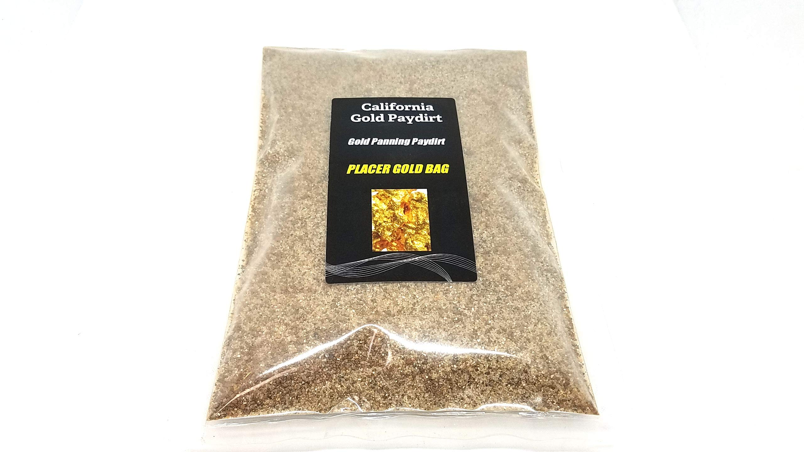 California Gold Paydirt Placer Gold Pay Dirt Bag Panning Concentrates by California Gold Paydirt