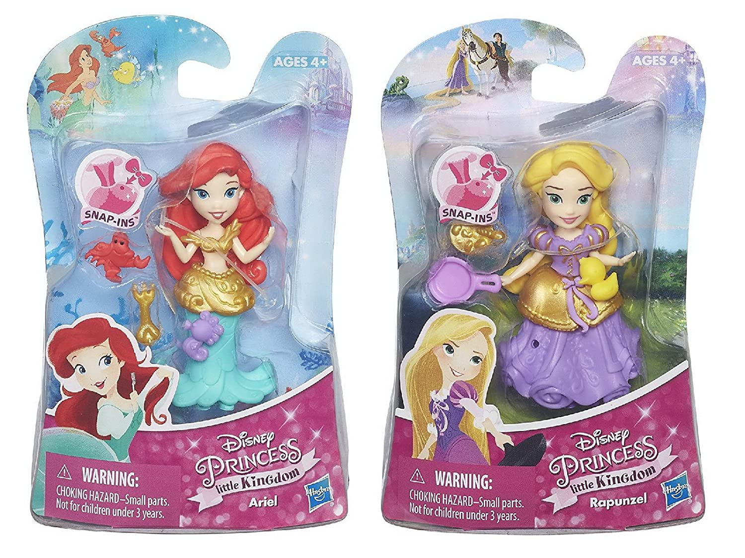 Set of 2 Disney Princess Little Kingdom Classic Dolls Ariel /& Rapunzel