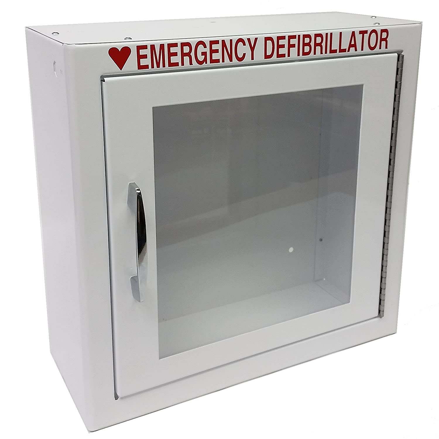 The First Voice TS145SM AED Basic Wall Standard Cabinet, 13.5' W x 13' H x 5.25' D 13.5 W x 13 H x 5.25 D Think Safe Inc.