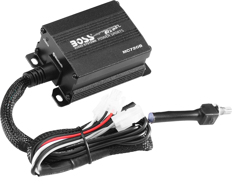 ATVs Boss 4 Chrome ATV Speaker//Amp Non-Carb Compliant BOSS MC720B Black Handlebar Mount for Motorcycles 5