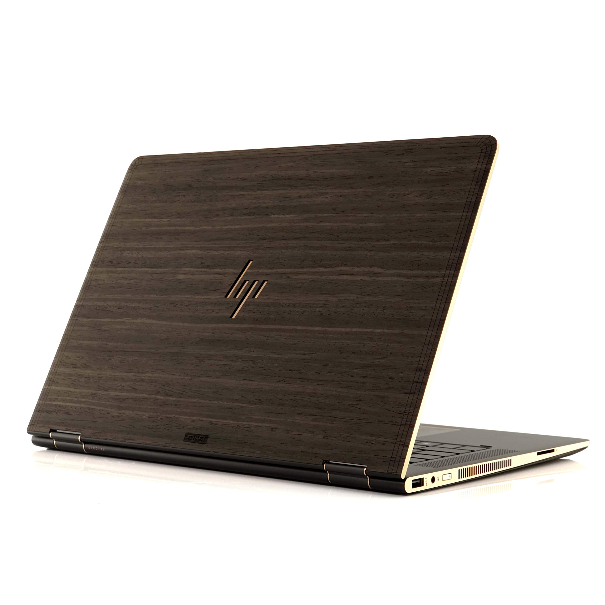 TOAST - Real Wood, Self-Adhesive Cover for HP Spectre X360 15'' 2017 Model - Ebony by Toast (Image #1)