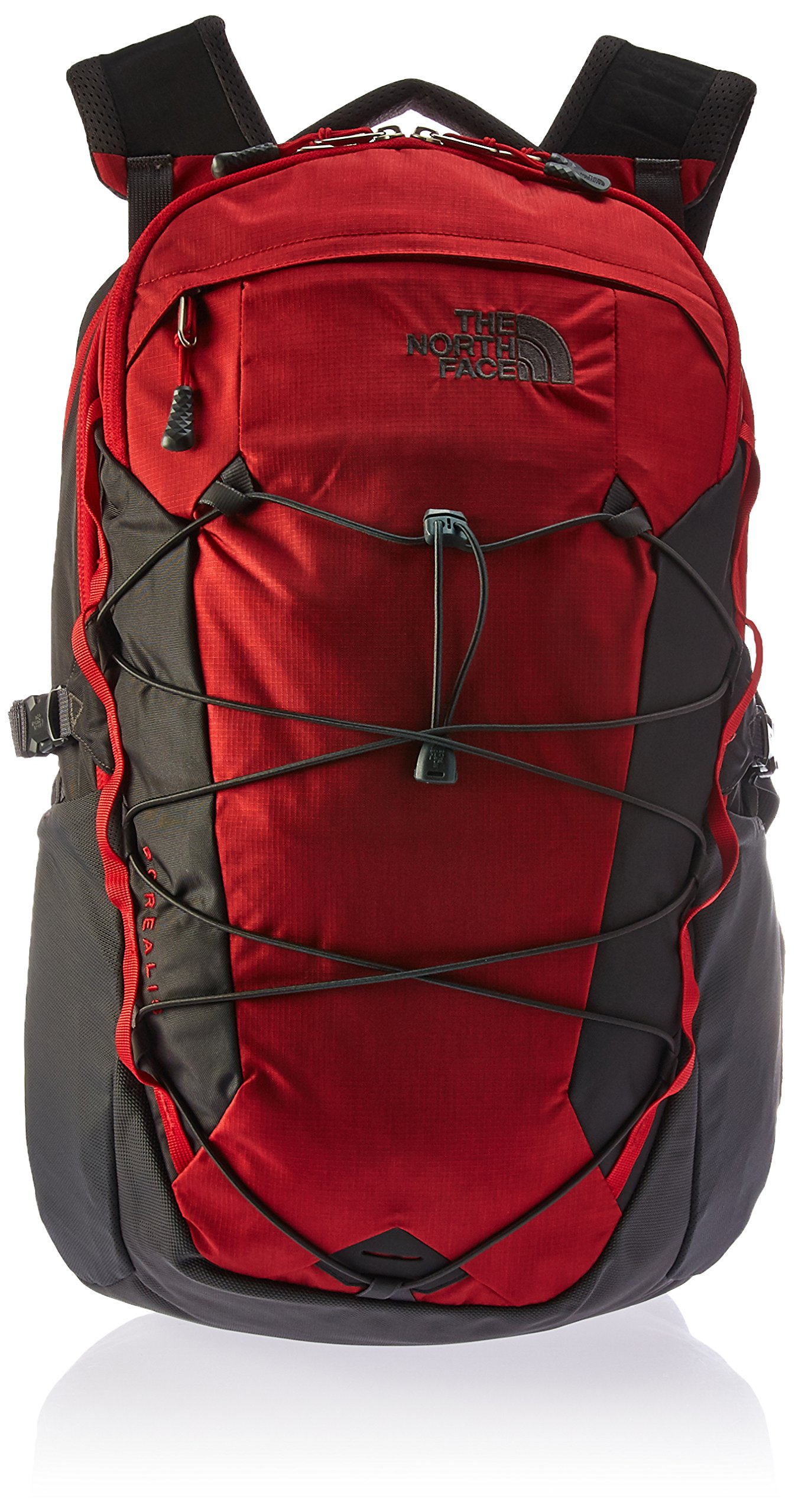The North Face Borealis Laptop Backpack - 17'' (Rage Red Ripstop/Asphalt Grey)