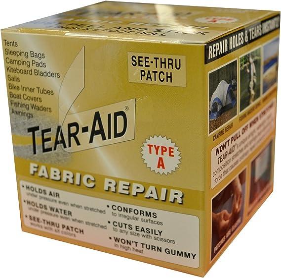 Tear Aid Type A Tissu Patch de réparation Kit de tentes EN TOILE CAOUTCHOUC