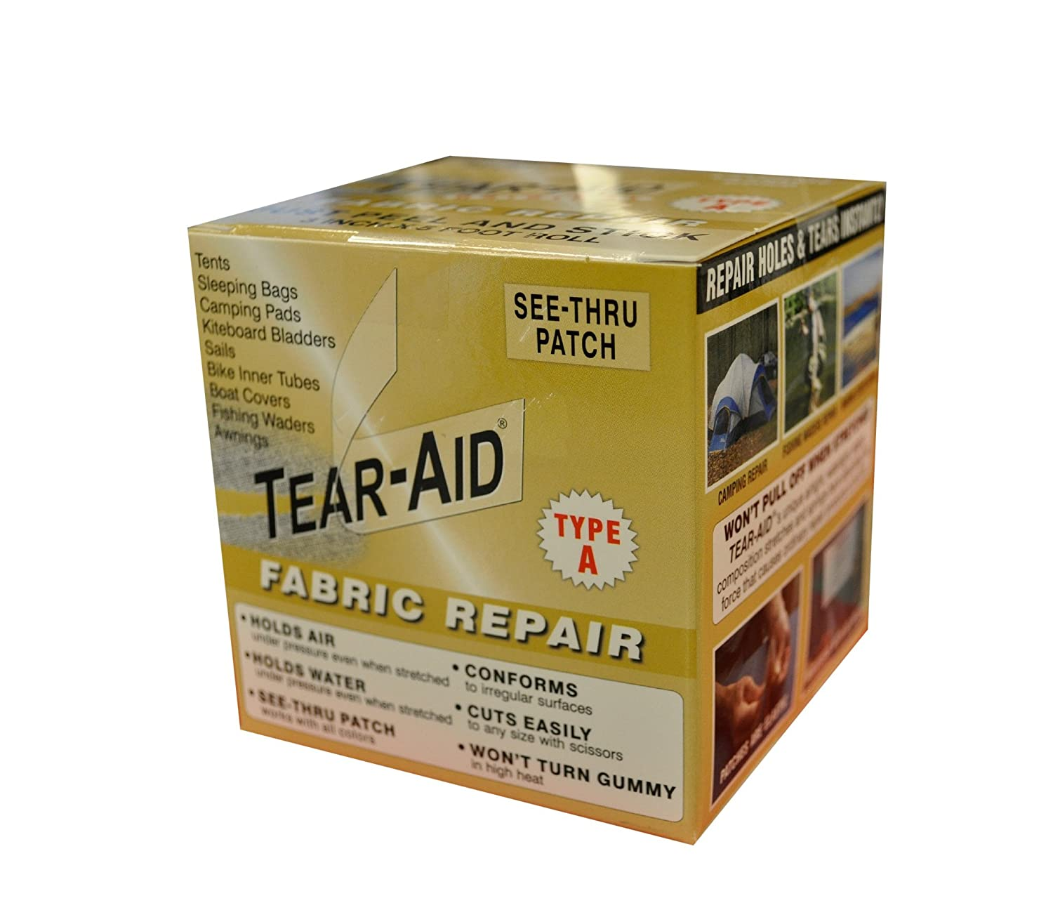Amazon.com Tear-Aid Repairs Patch Roll Kit for Type A Fabrics Sports u0026 Outdoors  sc 1 st  Amazon.com & Amazon.com: Tear-Aid Repairs Patch Roll Kit for Type A Fabrics ...