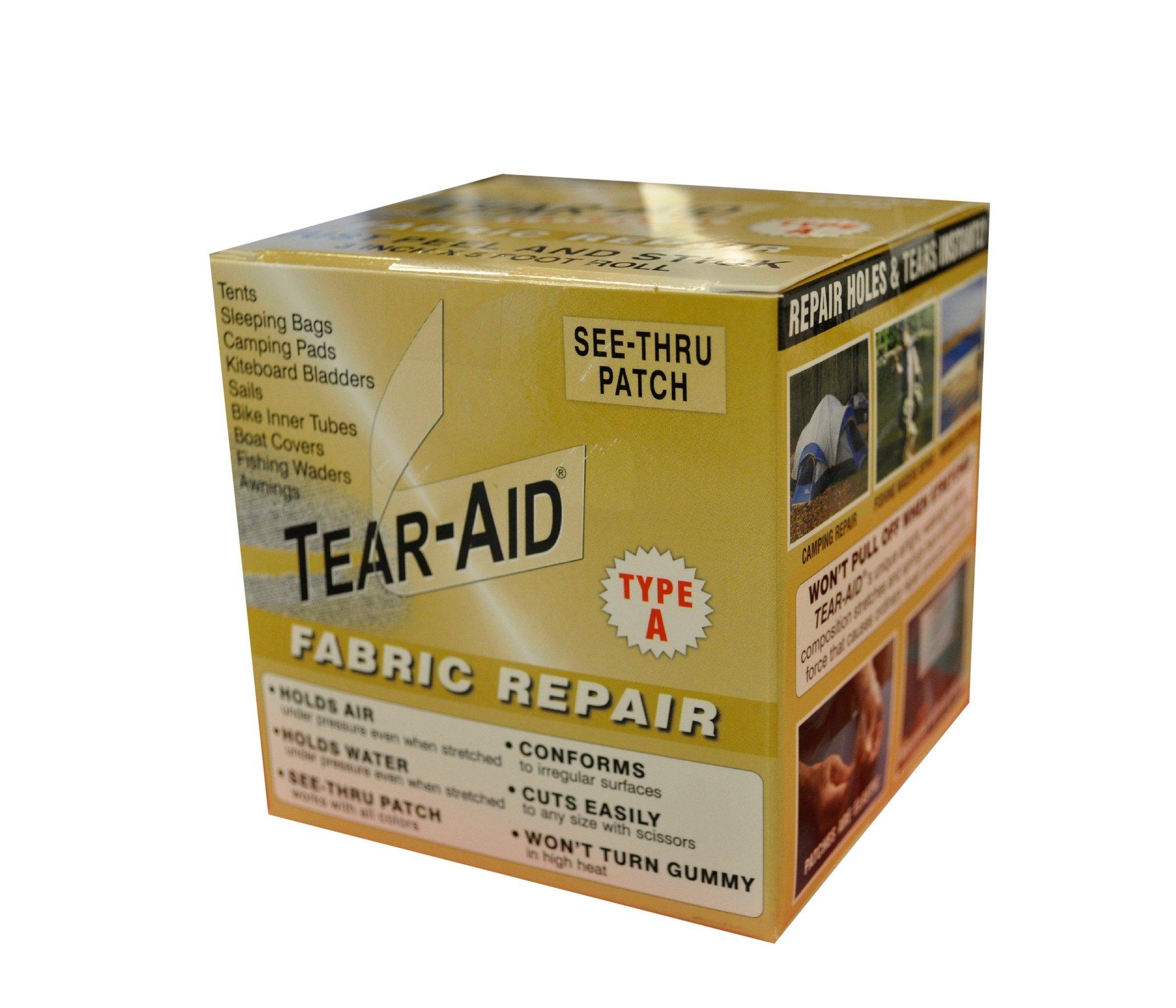Tear-Aid Fabric Repair Kit, 3 in x 5 ft Roll, Type A by Tear-Aid Repair
