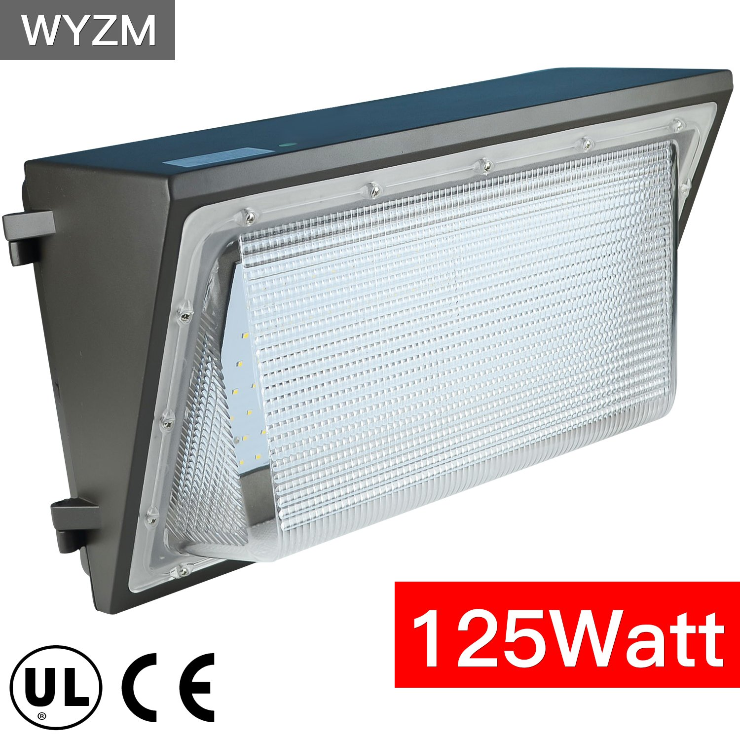 125W LED Wall Pack Light,Super Bright 14000LM,IP68 Waterproof,550~600W HPS MH Bulb Replacement,Outdoor Security LED Lighting Fixture for Building Home Security and Walkways (125Watt) by WYZM