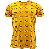 Luanvi Edición Limitada Camiseta técnica teckel, Hombre, Naranja, L (52-70cm)