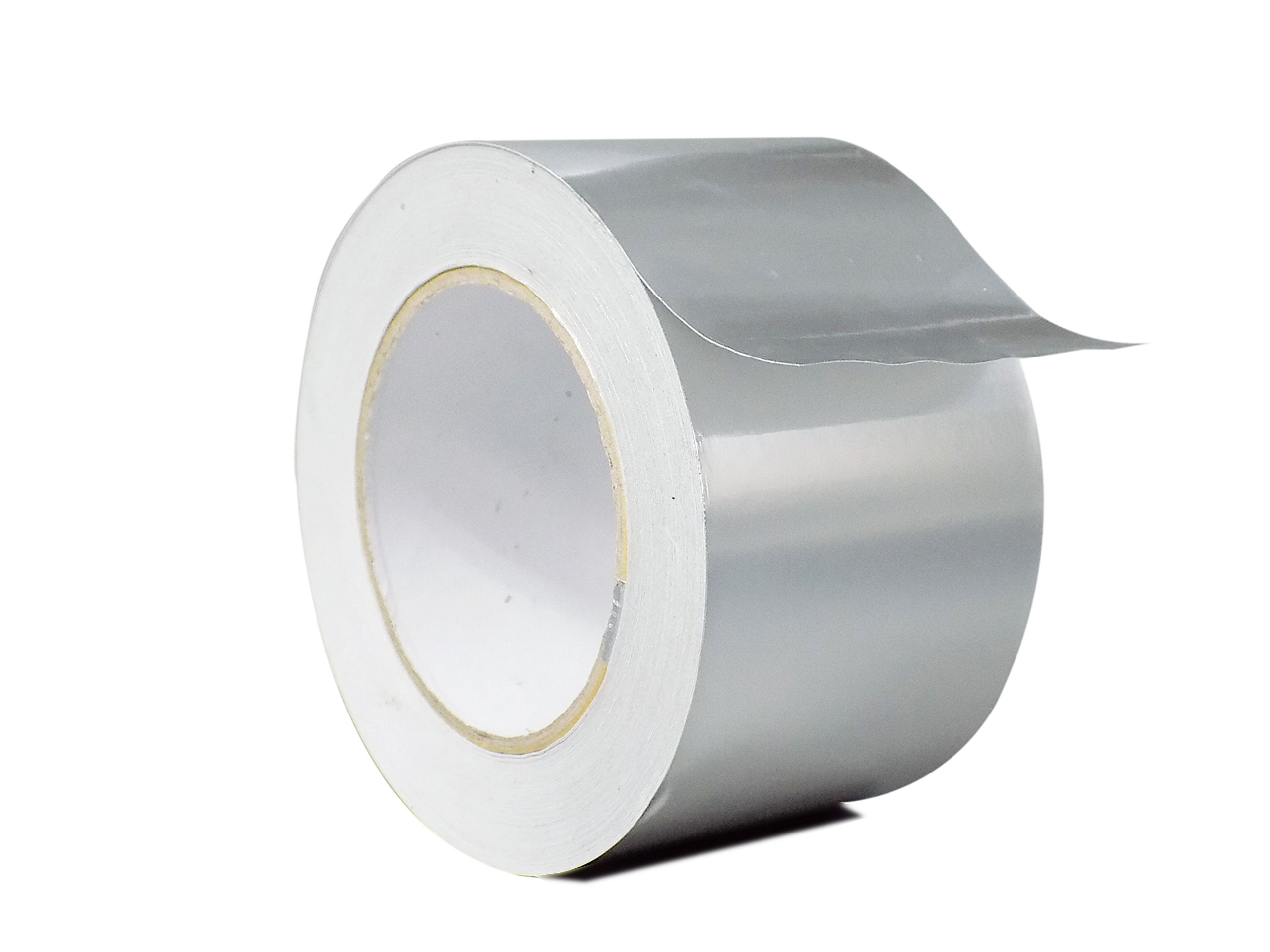 WOD AF-20R Premium Grade General Purpose Heat Shield Resistant Aluminum Foil Tape - Good for HVAC, Air Ducts, Insulation (Available in Multiple Sizes): 3 in. wide x 50 yds.