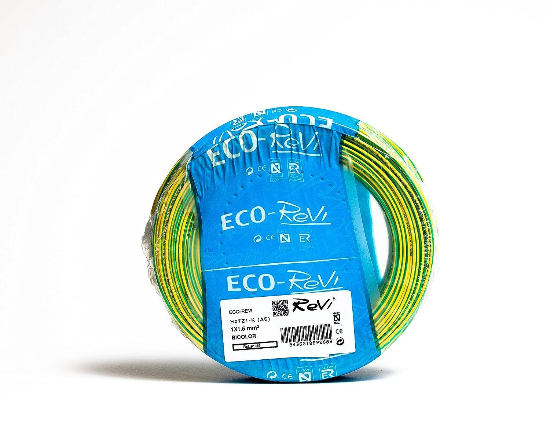 1 x 1,5 mm/² 25 m Negro H07Z1-K AS LIbre de Hal/ógenos Cable FLEXIBLE LSZH