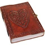 """Genuine Leather Handmade Journal - 'My Heart' by Creoly (6"""" x 8"""")"""
