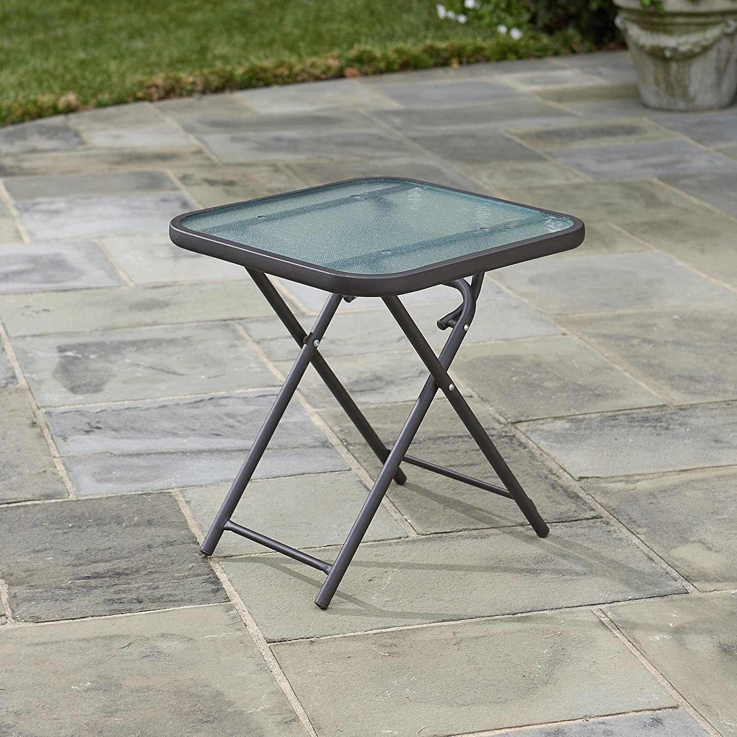 New Patio Side Table with Umbrella Hole