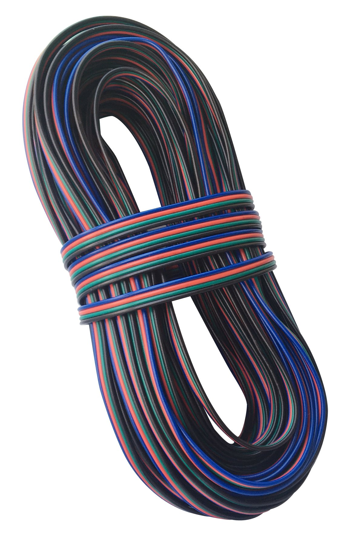 Ksmile 4 Color 66ft 20m RGB Extension Cable Line for LED Strip RGB 5050 3528 Cord 4pin 66 Feet