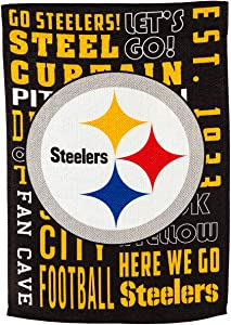 Team Sports America Pittsburgh Steelers Fan Rules Garden Flag - 13 x 18 Inches