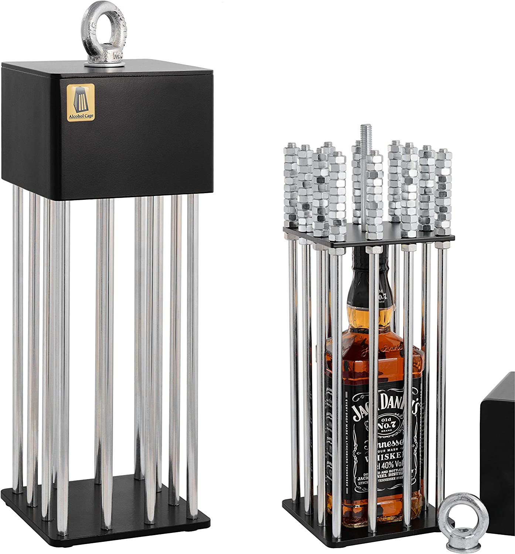 Alcohol Cage® Jaula para El Licor: Un Divertido Regalo De Cumpleaños para Hombres El Mejor y Divertido Regalo De Cumpleaños para Un Amigo Divertida Idea De Regalo para Un Hombre para El Whisky
