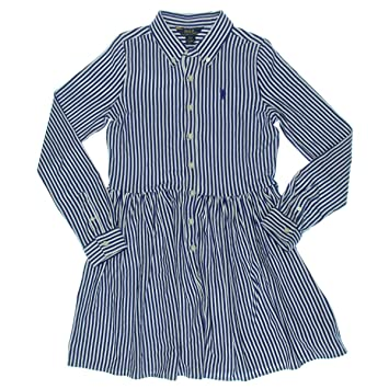 703170bb73ef Image Unavailable. Image not available for. Color  Polo Ralph Lauren Girls  Girl s Striped Shirtdress ...