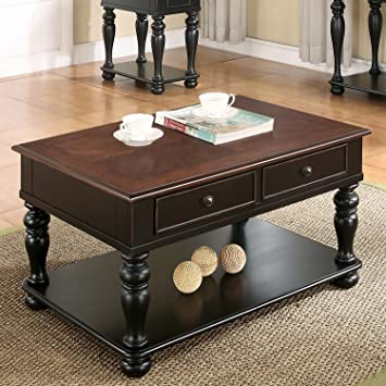 Merveilleux Riverside Richland Coffee Table In Black And Cherry