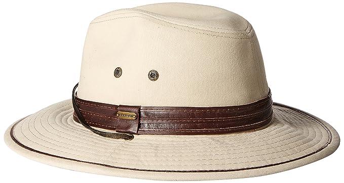 498d33fd03c Stetson Men s Safari Twill Hat at Amazon Men s Clothing store  Cowboy Hats