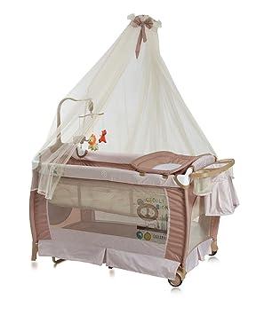 Lit parapluie bébé avec BALDAQUIN – Lit pliant   pliable à bascule Dream  (musical) 080f80a1591b