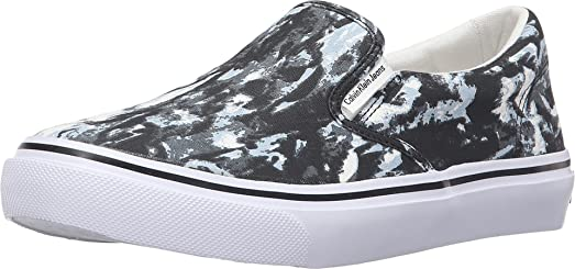 Calvin Klein Jeans Men's Rudy Black/White Tie-Dye Canvas Shoe