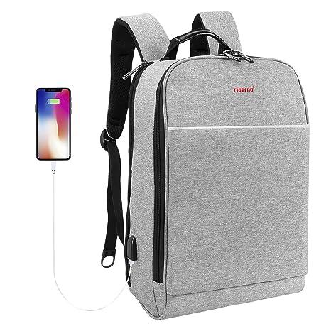 fc1ae937585a Amazon.com  TIGERNU Slim Computer Backpack Unisex USB Charging ...
