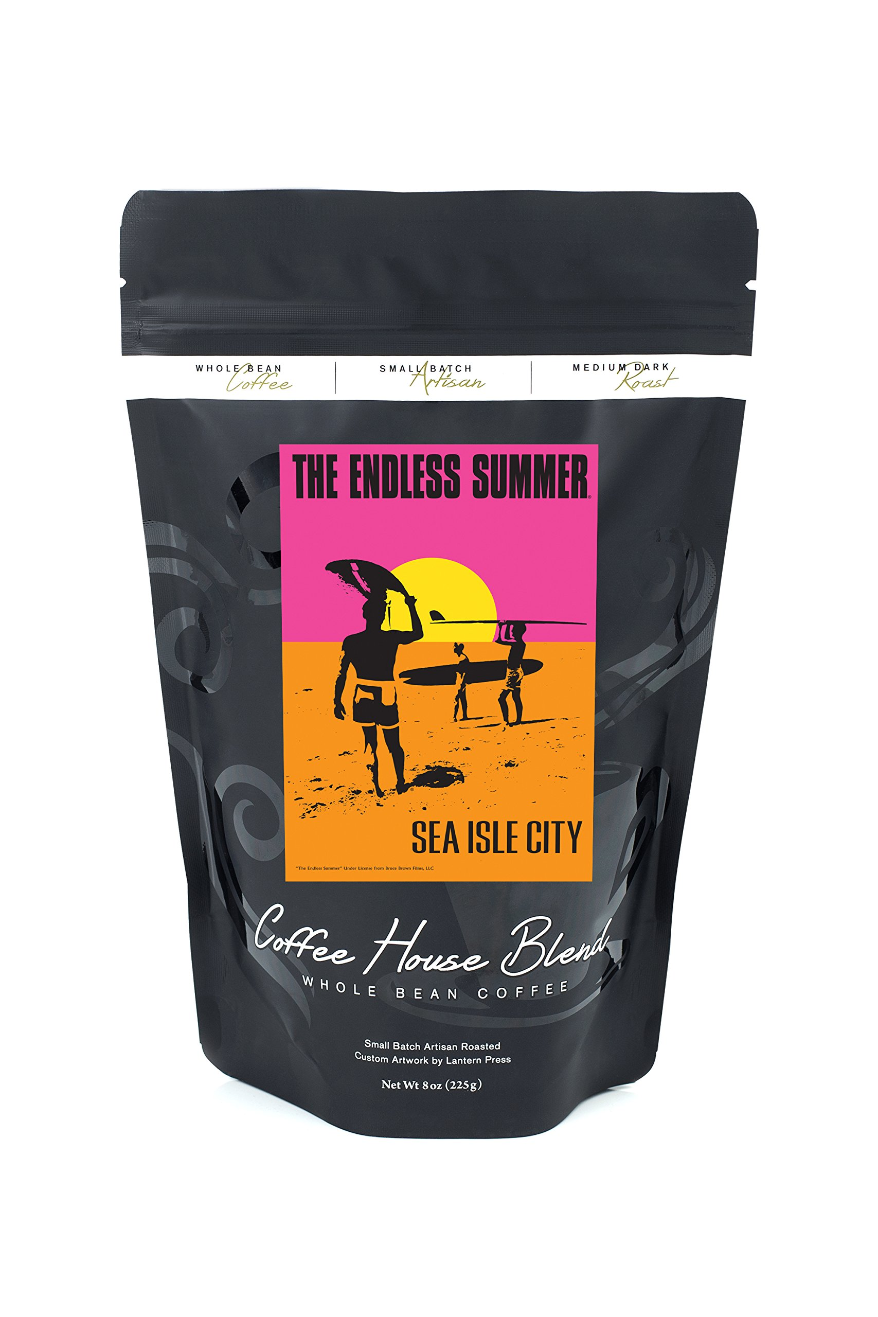 Sea Isle City, New Jersey - Endless Summer - Original Movie Poster (8oz Whole Bean Small Batch Artisan Coffee - Bold & Strong Medium Dark Roast w/ Artwork) by Lantern Press
