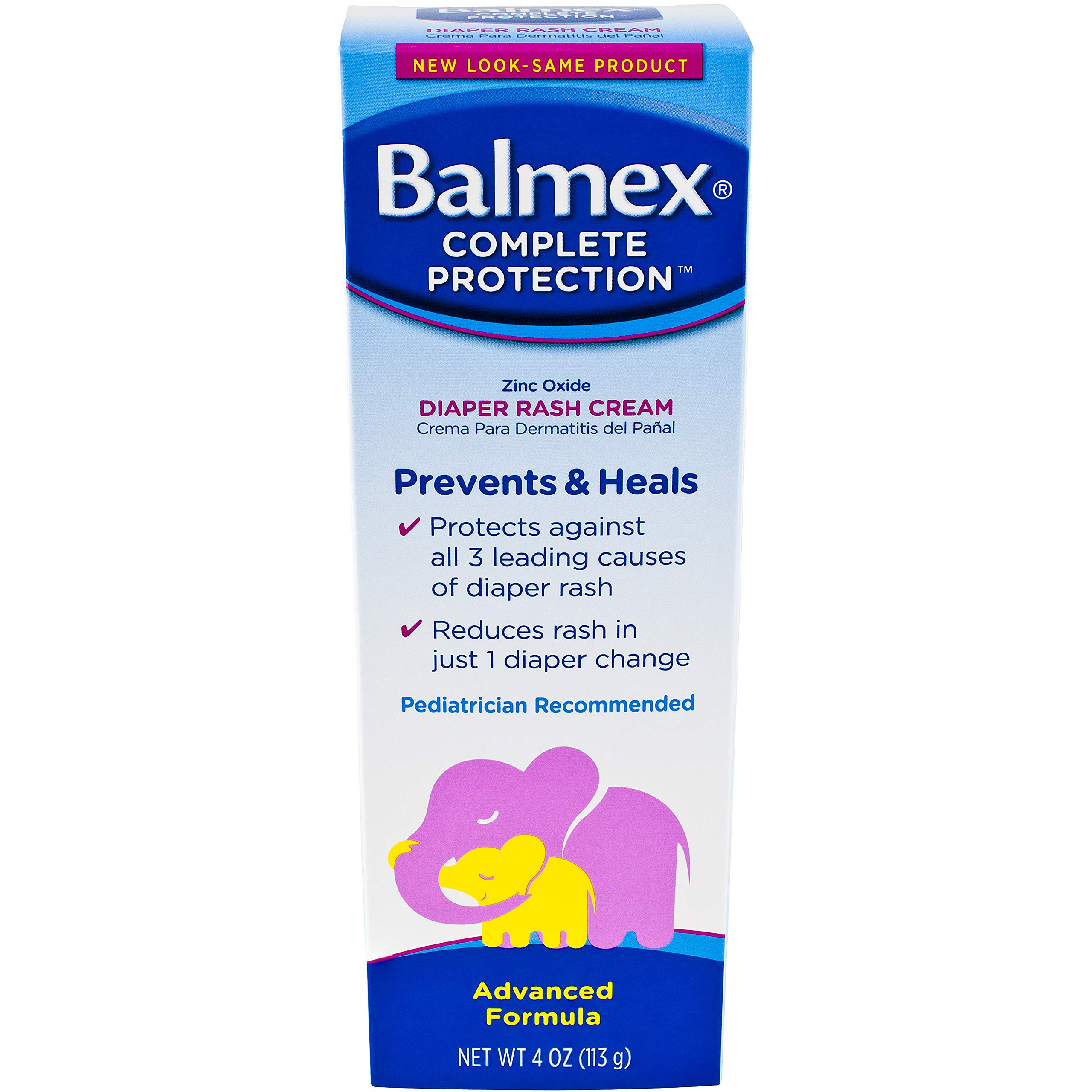 Balmex Diaper Rash Cream, 4 Count by Balmex