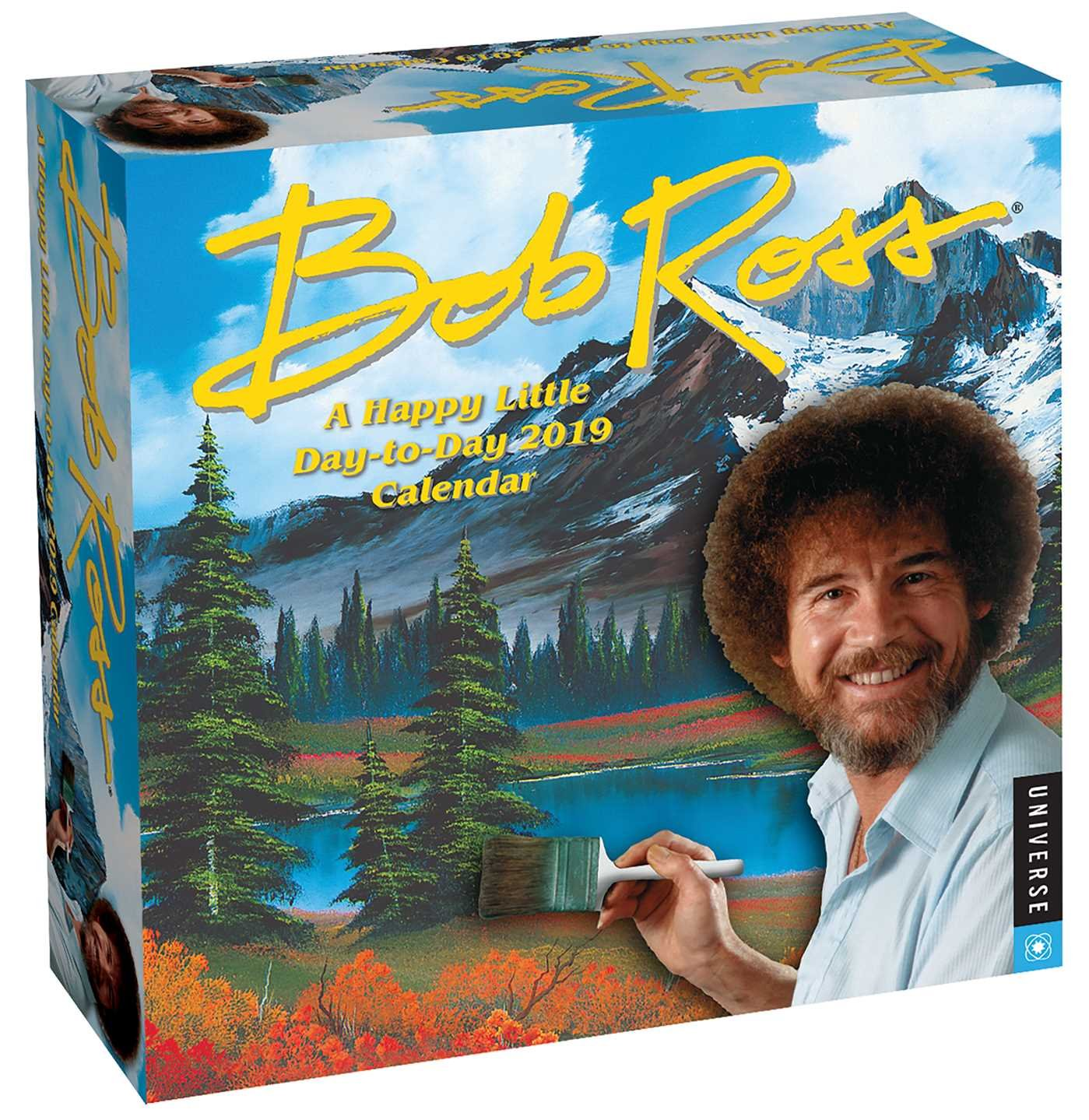 bob ross a happy little day to day 2020 calendar