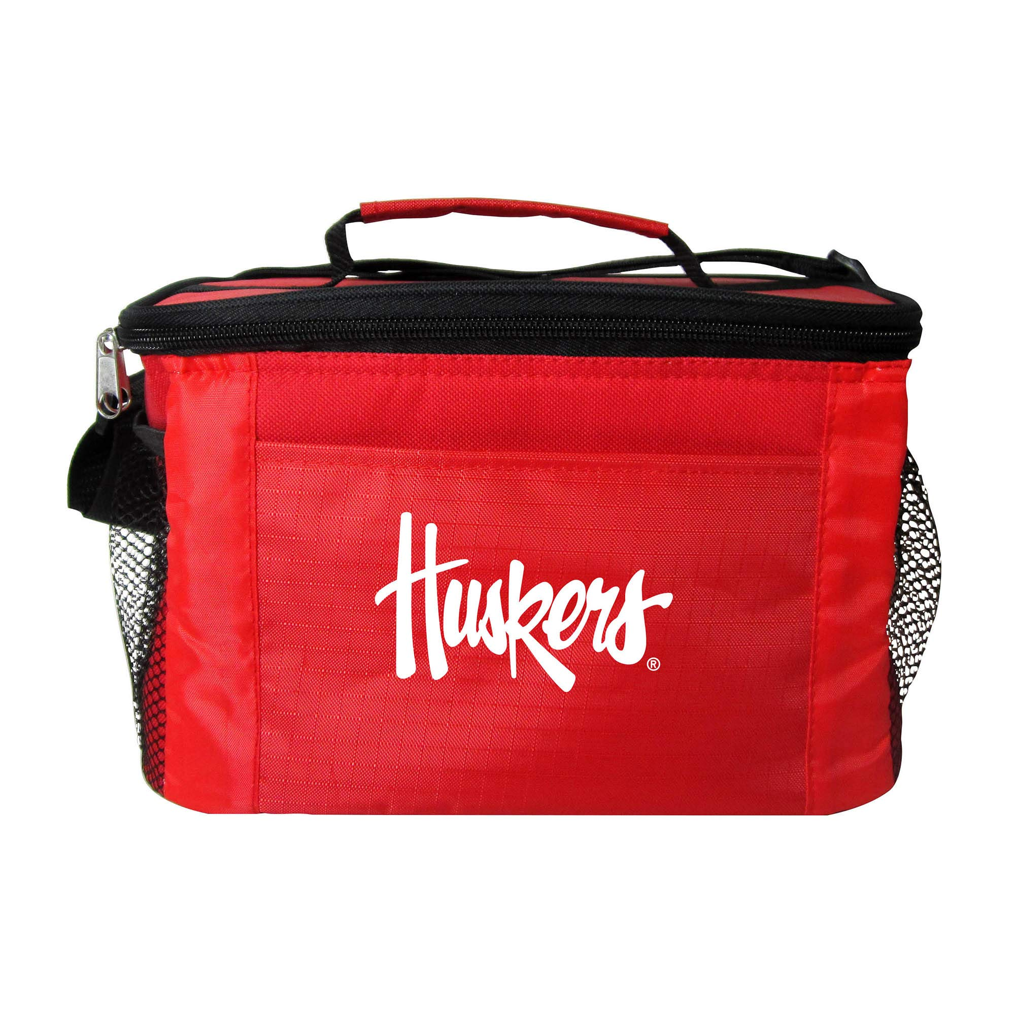 NCAA Nebraska Cornhuskers Team Logo 6 Can Cooler Bag or Lunch Box - Red