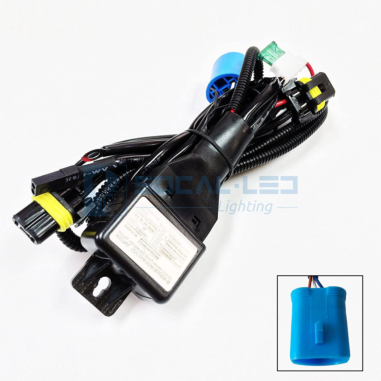81iLl8cXonL._SL1500_ amazon com o nex hid relay harness 9007 (hb5 9004) 12v 35w 55w bi Custom Auto Wire Harness H4 at aneh.co
