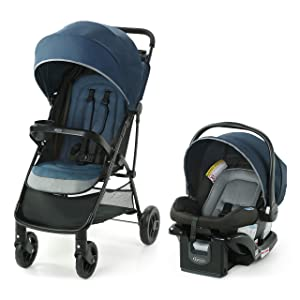 Graco NimbleLite Travel System | Includes Lightweight Stroller and SnugRide 35 Lite Infant Car Seat, Parent Storage, Compact Fold | Lightweight Stroller Under 15 Pounds, Belgrade