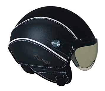 Nexx X60 Vintage Open Face Helmet (Black, Medium)
