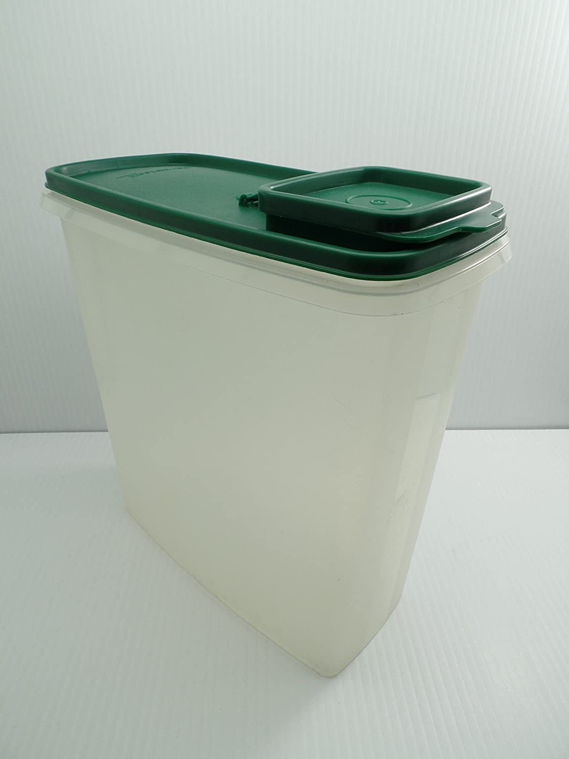 Tupperware Modular Mate 20 Cup Snack Container, Green Lid Frosted 1588-7 Container
