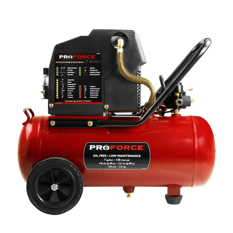 Pro Force Vpf1580719 7 Gallon Oil Free Air Compressor With Kit Spray Lili