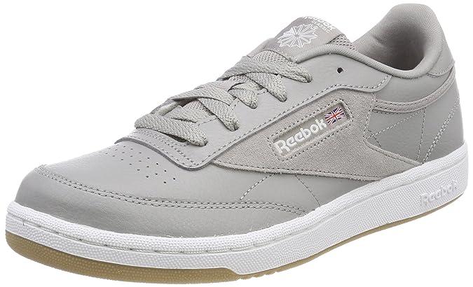 Reebok Jungen Club C 85 Estl Tennisschuhe, Grau (Powder Grey/White/Washed Blue 000), 36 EU