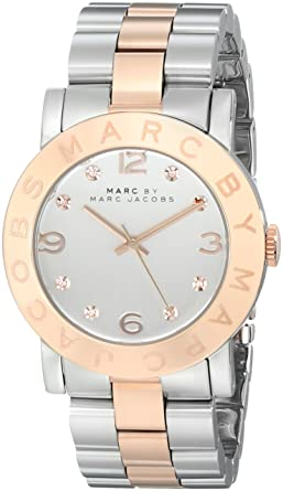 Image Unavailable. Image not available for. Color  Marc by Marc Jacobs  Women s MBM3194 Amy Two-Tone Stainless Steel Watch ... 6d4160e3b9