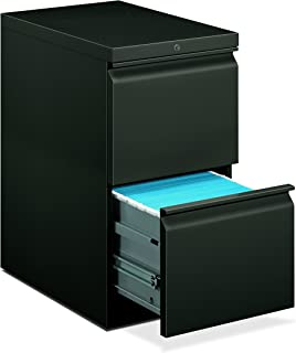product image for HON 33823RS 22-7/8-Inch Efficiencies Mobile Pedestal File with 2 File Drawers, Charcoal